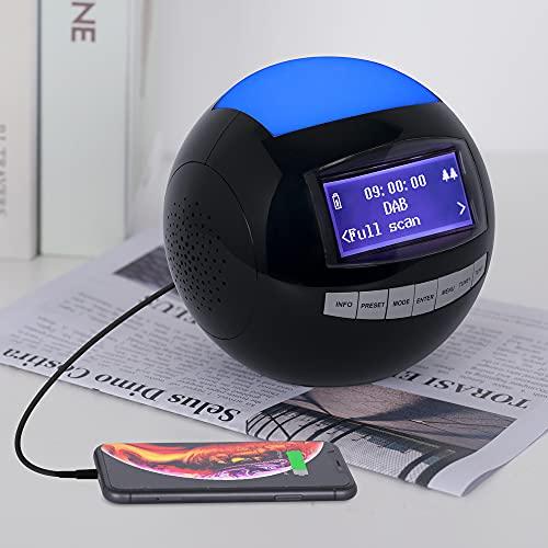 Radiowecker, DAB+/UKW Digitalradio mit Zwei Weckern, Snooze-Funktion, Sleeptimer, 12/24HR, Nachtlicht, Stereolautsprecher und Dimmbares Display, USB-Ladefunktion, EIN kleines Geschenk für die Familie