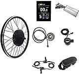 HYCy Kit de conversión de Bicicleta eléctrica Kit de Bicicleta eléctrica 48 V 1500 W Kit de conversión de Bicicleta eléctrica 40-55 km/h de Velocidad, con Controlador de medidor KT-LC