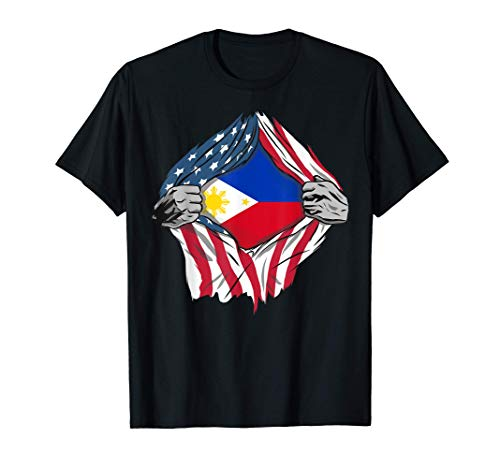 Filipino American Blood Inside Me - Country Flags T-Shirt