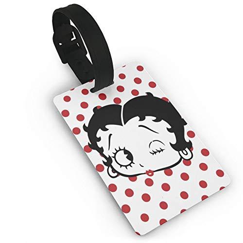 Etiquetas para equipaje de viaje Bet-ty Bo-op de PVC para viajeros inteligentes, mejor para prevenir la pérdida de bolsas y maletas