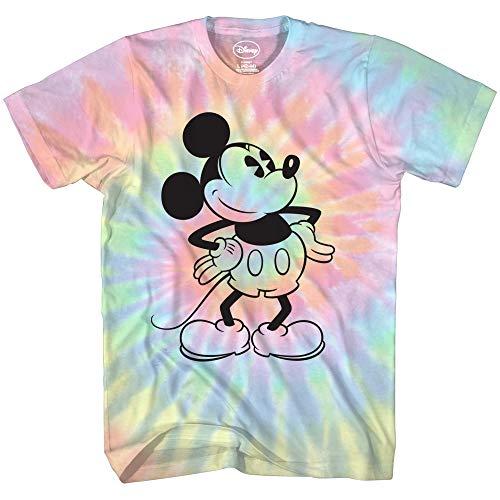 Mickey Mouse Attitude Tie Dye Classic Vintage Disneyland World Mens Adult Graphic Tee TShirt Apparel Blue Tie Dye Large