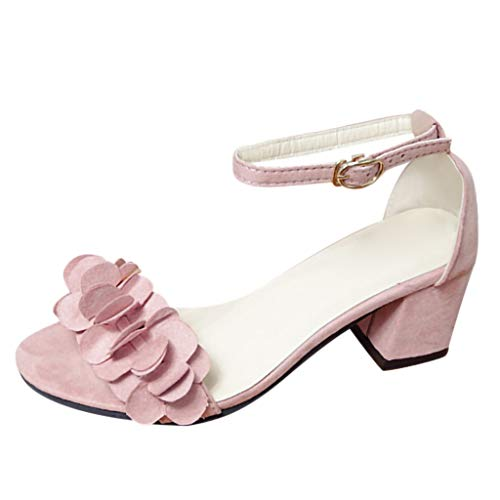 Vovotrade damesbanden, bloemensandalen, sandalen, zomerschoen, hakken, zwart, roze, grijs 35-40
