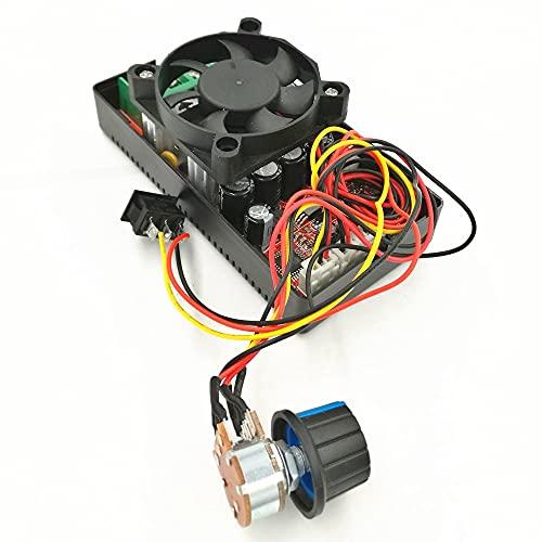 ndliulei Controlador PWM de Velocidad de Motor de CC de Puente H con Control de PLC, Interruptor de inversión, Ventilador de frenado, 12 V, 24 V, 36 V, 50 V, ajustador de Velocidad