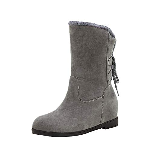 Damen Freizeitschuh Winter rutschfeste dicke Unterseite Warm Stiefel halten Heel Stiefel LANSKIRT