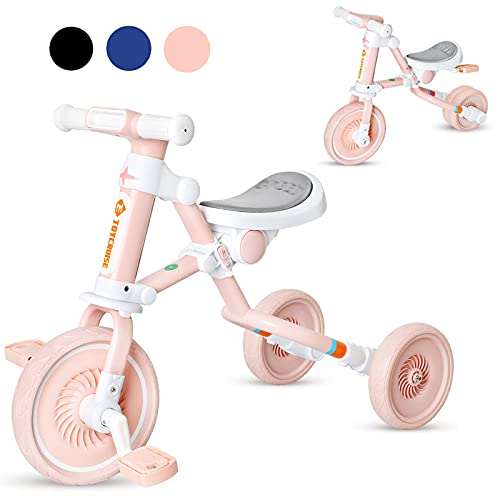3 in 1 Kids Tricycle for Age 1-4 Years Old Kids,...