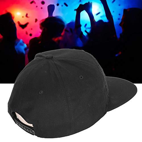 Yeelur Sombrero, Sombrero de decoración navideña con Pantalla LED, Negro Unisex para Hombre