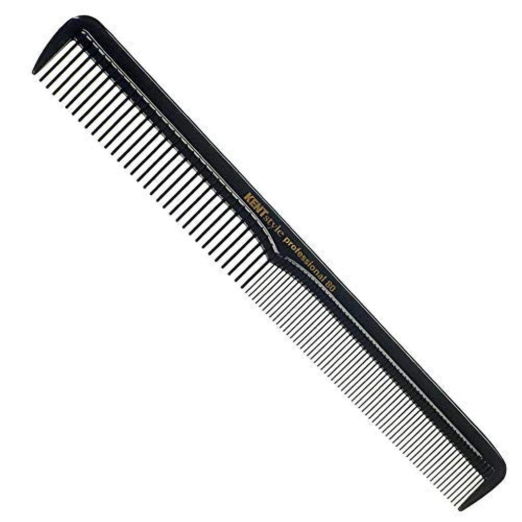 パフ懐疑的防ぐKent Style Professional Combs (Black) - Anti-static, Unbreakable & Heat Resistant (SPC80) [並行輸入品]