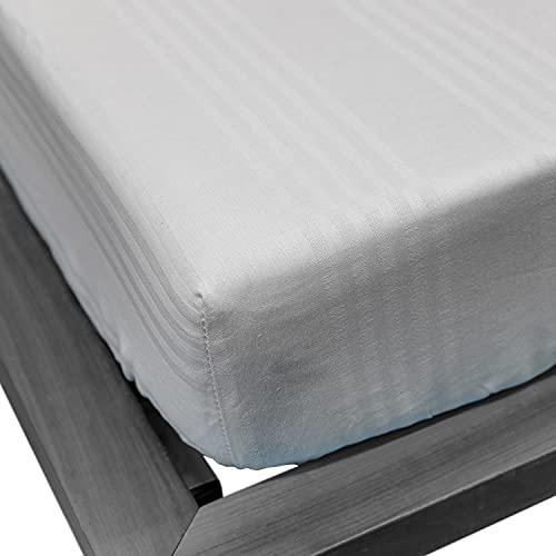 NuvolaNera Coprimaterasso fasciato traspirante con angoli elasticizzati – 100% cotone sanforizzato - Matrimoniale 175 x 200 cm
