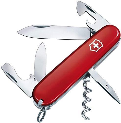 Victorinox Unisex– Erwachsene Taschenmesser Spartan (12 Funktionen, grosse, kleine Klinge, Dosenöffner, Schraubendreher 3 mm, Kapselheber), rot, One Size