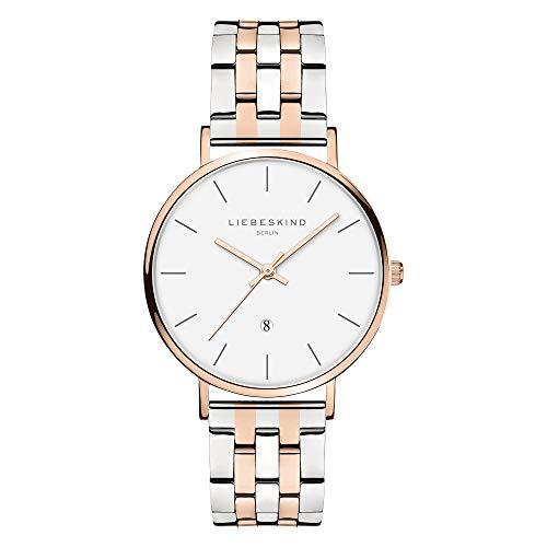 Liebeskind Berlin Damen Analog Quarz Uhr mit Edelstahl Armband LT-0214-MQ