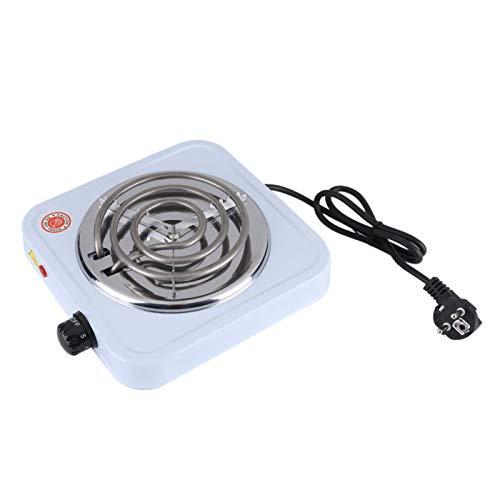 220V 1000W Placa caliente portátil Calentador de café de cocina individual Placa calefactora ajustable Electrodomésticos de cocina para dormitorio, oficina, hogar con interruptor de perilla de horno e