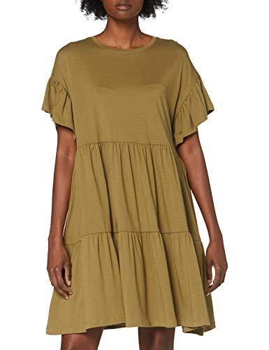 ONLY Damen ONLMAY New Life S/S CUTLINE Dress JRS Kleid, Martini Olive, M