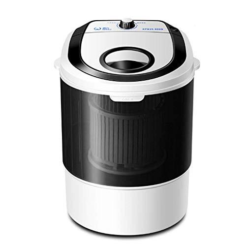 ZXYY Mini Lavadora portátil y Secadora centrifugadora Lavadora compacta 2.5KG Capacidad de Lavado Viaje Hogar Fácil de Mover Ahorro de energía y Espacio (Color: Negro)