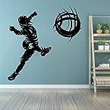 WERWN Pegatinas de Pared de fútbol, GOL de fútbol para Aficionados, Juego de Pelota, Estadio, Trabajo en Equipo, Adhesivo para Pared, decoración
