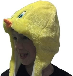 Tweety Bird Plush Hat Character Animal Head Sun Cover Halloween Costume Headdress Cute Fun Soft Fabric Christmas Birthday Girls Boys Cap