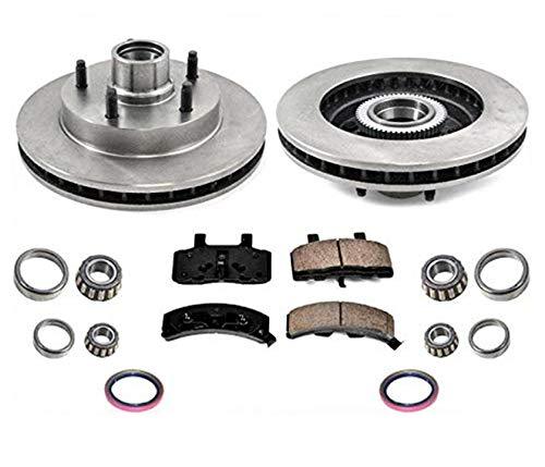 Front Rotors Brake Pads Bearings for Dodge Ram 1500 94-99 Rear Wheel Drive
