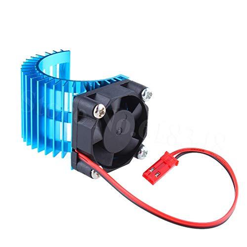 JAP768 Brushless Motor Heatsink + Kühlventilator 550 540 Größe RS540 Heatsink Abdeckung Elektromotor Fit for RC-Car HSP 7014 (Farbe : Blue)