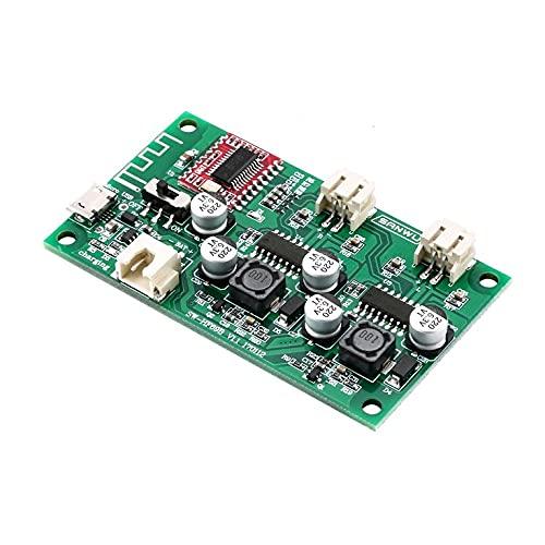 CNmuca Placa amplificadora de potência Placa de conversão de alto-falante 2X6W bateria recarregável de lítio com gerenciamento de carga Hf69B verde