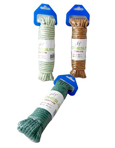 3 Piece 32.8 Foot Each Diamond Braid Polypropylene All Purpose Flagline Rope, High Strength Rope Clothesline Tie Down Camping Crab Pot Rope