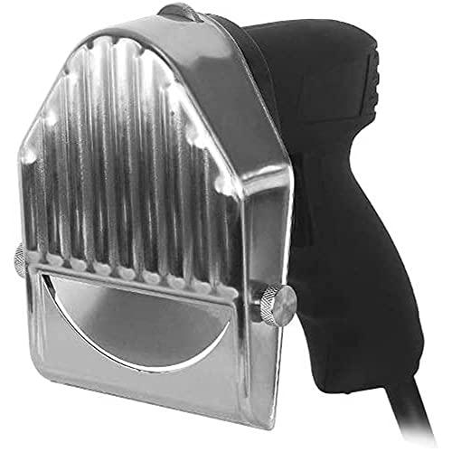 Rebanador de kebab eléctrico de mano de acero inoxidable, cuchillo para trinchar carne, cuchillo giroscópico eléctrico, cortador profesional de 0 a 8 mm de espesor con 2 cuchillas