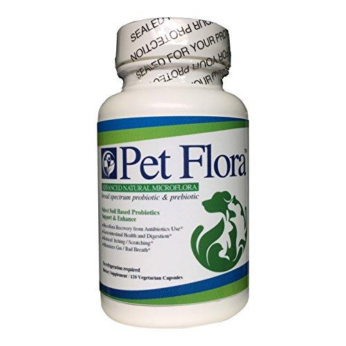 Pet Flora -Soil based Broad Spectrum Prebiotic Probiotic -120 Capsules