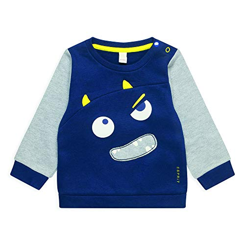 ESPRIT KIDS Baby-Jungen RQ1501212 Sweatshirt, Mehrfarbig (Midnight Blue 485), (Herstellergröße: 68)