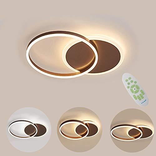 Moderne LED Deckenlampe, 36W 3600lm Aluminium LED Deckenleuchte, 3000K~6000K Dimmbar Mit Fernbedienung, Deckenleuchten For Wohnzimmer, Kinderzimmer, Schlafzimmer Decke, Dimension L55 * W40 * H6CM