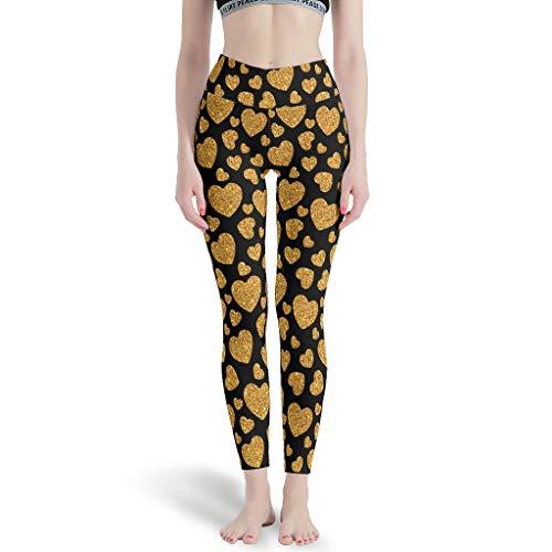 Dogedou Blickdicht Yoga Pant Damen Love Leggings Jeggings für Gym White 3XL