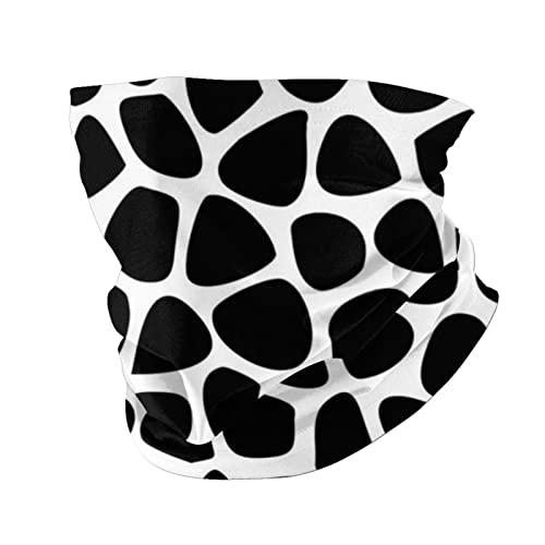 Black and White Giraffe Skin Neck Warmer Gaiter for Men Women Headband Face Mask Bandana Head Wrap Scarf Headwear Winter Balaclava for Ski Running Motorcycle