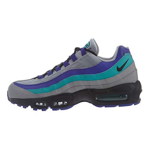 Nike Air Max 95 Og, Scarpe da Fitness Unisex-Adulto, Multicolore (Wolf Grey/Black/Indigo Burst/Hyper Jade 001), 38.5 EU
