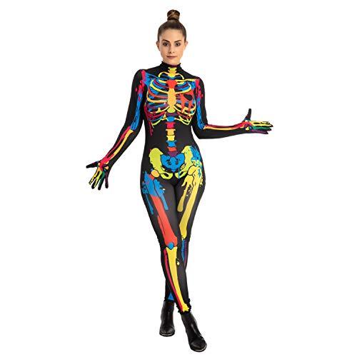 Adult Women Colorful Skeleton Costume (Large)