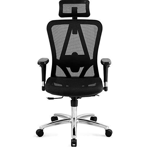 Ticova Ergonomic Office Chair with Adjustable 3D Armrest, Headrest and Lumbar Support - High Back Mesh Office Chair with Breathable Mesh Seat- Reclining Computer Desk Chair