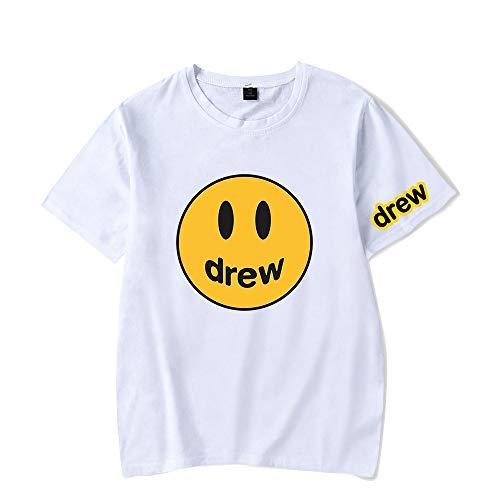 WAWNI Justin Bieber - Camiseta de manga corta para hombre Blanco blanco XXS