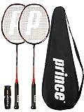 Prince 2 x Pro Nano Ti 75 Graphite Badminton Raqueta + 6 Volantes (Varias Opciones) (Warrior)