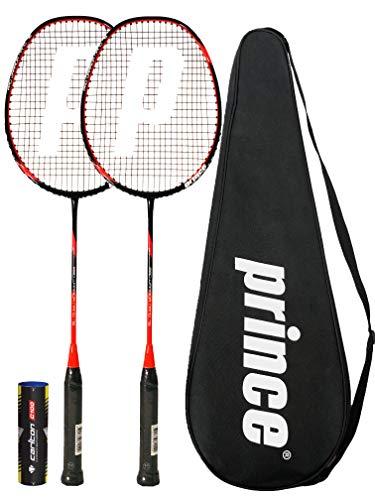 Prince 2 x Pro Nano Ti 75 Graphite Badminton Raqueta + 6 Volantes (Varias Opciones)