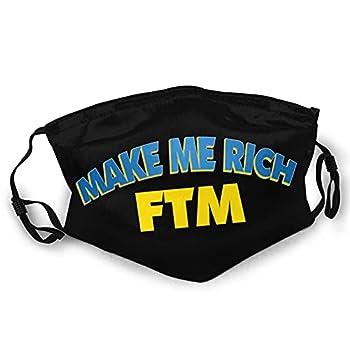 Make Me Rich Fantom Coin FTM Washable Reusable Soft Breathable Mask Sided Printing Children Adults Black