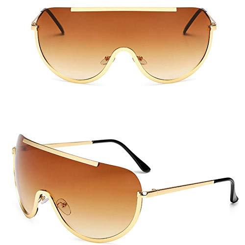 chuanglanja Gafas De Sol Mujer Elegantes Gafas De Sol Grandes Para Mujer Gafas De Sol Redondas Clásicas Gafas De Metal Para Exteriores Conducción De Vacaciones Color-B