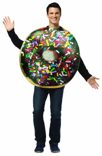 Rasta Imposta mens Get Real Doughnut Adult Sized Costumes, Multi, Standard US