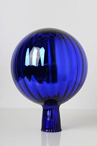 Rosenkugel aus Glas für den Garten – perfekte handgemachte Garten-Dekoration für Ihr Blumenbeetin vielen Farben, Formen und Größen, Hoche 23cm und Durchschnittlich 18cm, Blau