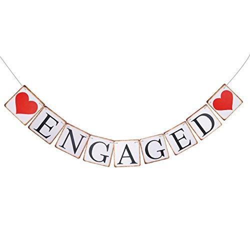 Pixnor Engagement Party Decorations Bunting Banners ENGAGED