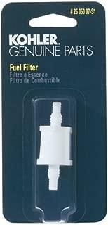 KOHLER 25 050 07-S1 Engine Fuel Filter 75 Micron With 3/16-Inch & 1/4-Inch Fuel Line Inside Diameter