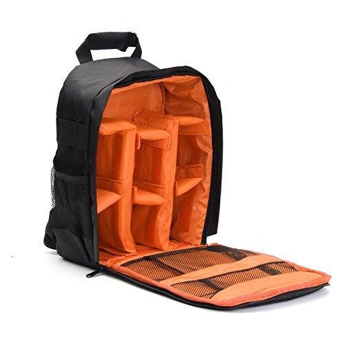 Outtybrave Kamera-Rucksack, Schultertasche, wasserdicht, Diebstahlschutz, für DSLRs, Canon, Nikon, Sony, Nylon, Orange, 12x25x33cm