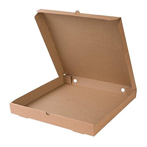 BIOZOYG Caja para Pizza I Pizza Cajas 31x31 cm Pizza cartones 100 Piezas I compostables empaquetado para Pizza Caja Cuadrada doblada, Caja con ventila/Agujeros I 66% cartón Reciclado Color marrón