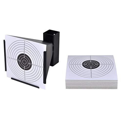 vidaXL Soporte para Blancos de Tiro + 100 dianas de 14 cm, práctica de Disparos, vidaXL