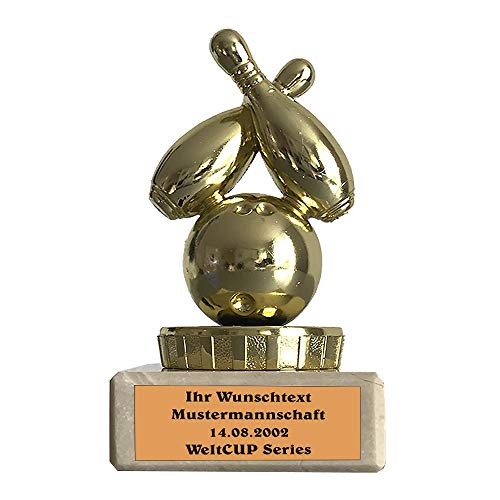 Larius Group Bowling Pokal Trophäe Kegeln Ehrenpreis mit Wunschtext