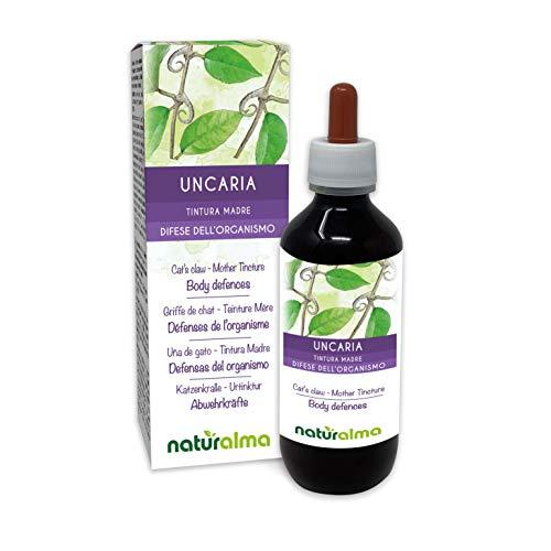 Katzenkralle (Uncaria tomentosa) Rinde Alkoholfreier Urtinktur Naturalma | Flüssig-Extrakt Tropfen 200 ml | Nahrungsergänzungsmittel | Veganer