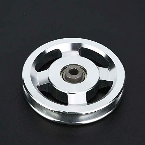 Antideslizante para bienestar Ronda de aleación de aluminio de fundición a presión práctica gimnasio en casa resistente al desgaste duradero Fácil Aplicar polea de rueda de recambio de tamaño, equipo