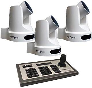 PTZOptics 3 Pack 2MP Full HD Indoor PTZ Camera, 20x Optical Zoom, 1920x1080 at 60fps, 3G-SDI, HDMI, CVBS, 60.7 Degree FOV,...