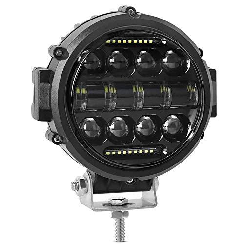 Cobeky Luz de trabajo LED redonda, 60 W, foco de inundación, haz combinado de luz LED, luz de circulación diurna, luces de conducción fuera de carretera para camión SUV