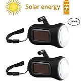 AOZBZ Solar Power Taschenlampe Taschenlampe Lampe Handkurbel LED-Taschenlampe Handkurbel Taschenlampe Solarbetriebene Notfackel für